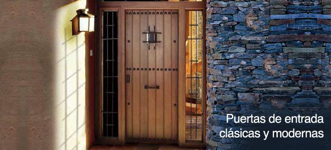 Puertas de entrada clásicas y modernas