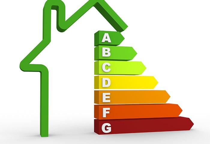 3d energy efficiency chart. 3d render