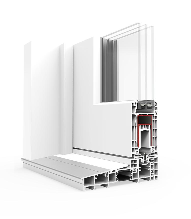 ventana pvc e170 corredera elevable